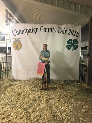 Ella Forrest, Reserve Grand Champion, Champaign County Fair, OH