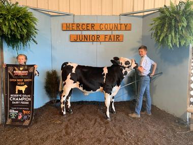 Ike Webb, Reserve Champion Dairy Feeder,