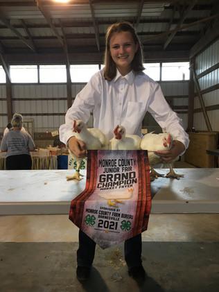 Abigail Kinney, Grand Champion Fryer, Monroe County, OH.jpeg