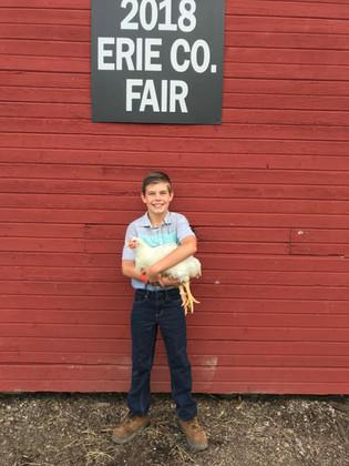 Jake Bouy, Grand Champion, Erie Co Jr. Fair, OH
