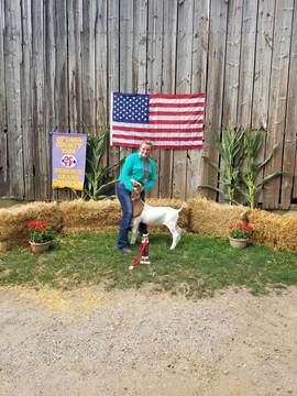 Jenna Timmer, Reserve Champion Goat Otta