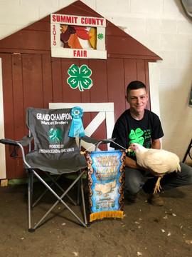 Seth Frient, Grand Champion, Summit County Fair, OH
