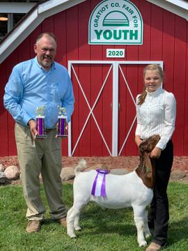 Julie Becker, Reserve Champion Goat Grat