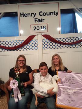 Gavin Podach, Reserve Grand Champion, Henry County Jr. Fair, OH