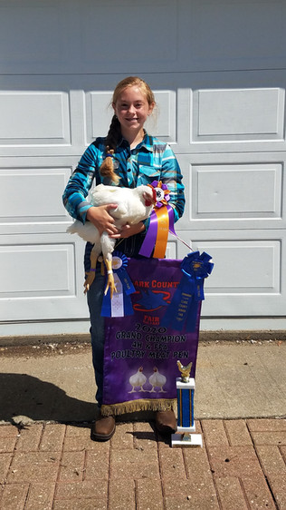 Alaina Freeze, Grand Champion Meat Chick