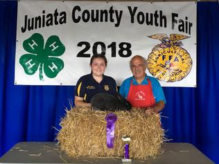 Emily Kuhn, Grand Champion, Juniata County Youth Fair, PA