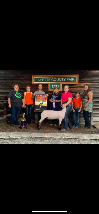 Sadie Richter, Reserve Champion Market Lamb, Fayette County Fair, OH.png
