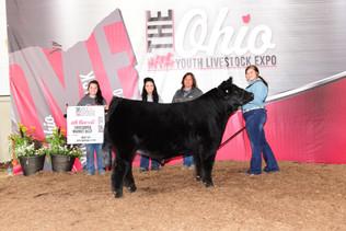 Livia Leonhart, 4th Overall Crossbred, Ohio Youth Livestock Expo