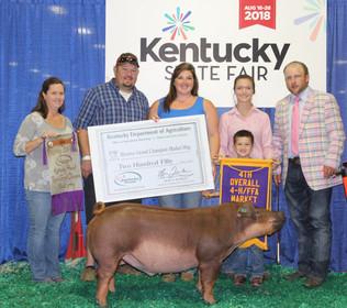 McKenzie McCoy, Reserve Grand Champion, Kentucky State Fair