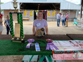 Anna Drewes, Reserve Champion Pen of 2 Rabbit, Grand Champion Single Roaster, Grand Champi