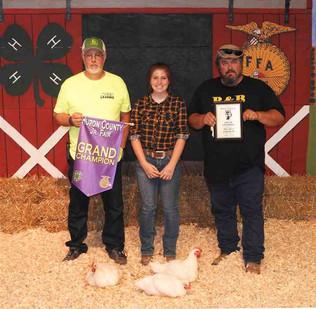 Allison Martin, Grand Champion, Huron Co. Fair, OH