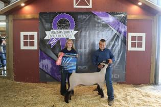 Colby Tucker, Reserve Champion Market Ewe, Allegan County, MI.jpg