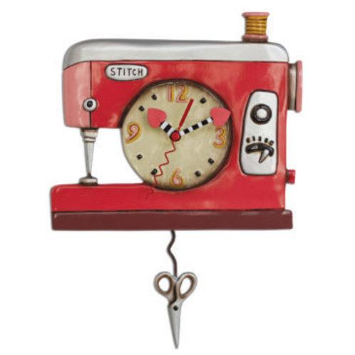 Double Stitch Sewing Machine Clock