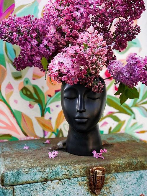Eugenie Black Vase