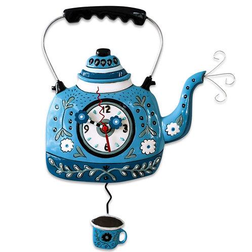 Kettle Blue Pedulum Clock