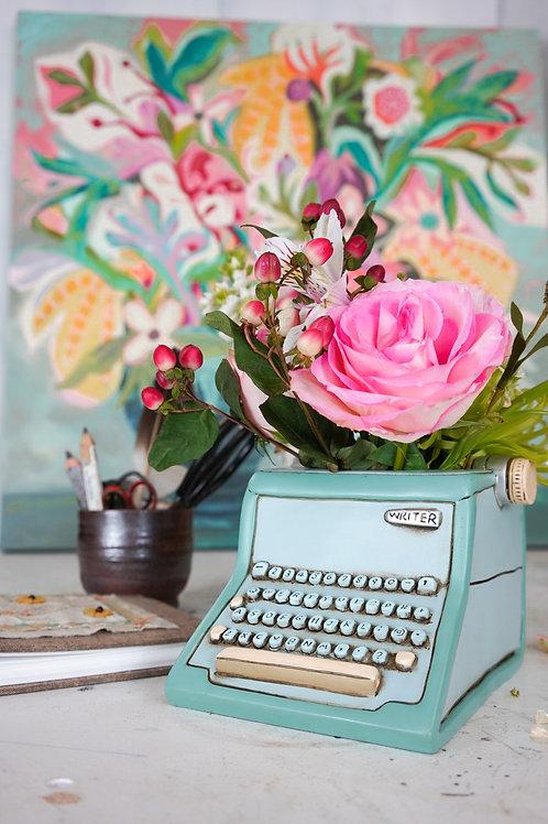 Blue Writer Planter
