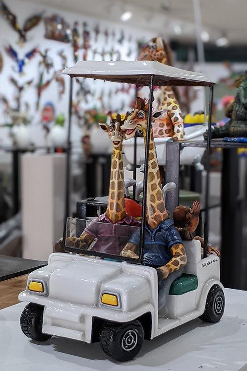 Giraffes Golfing