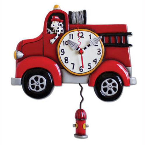 Big Red Firetruck Clock