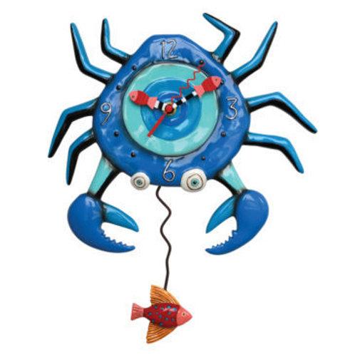 Blue Crab Pendulum Clock