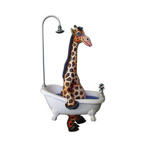 Giraffe on Bathtub