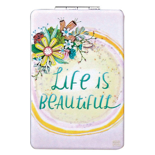 Life is Beautiful Compact Mirror