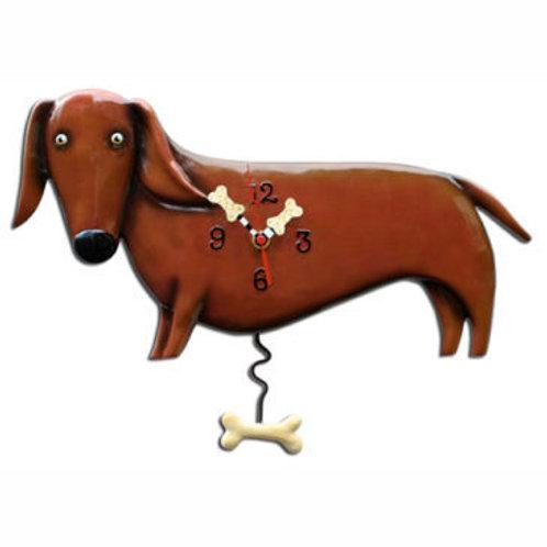 Oscar Dachshund Dog Clock