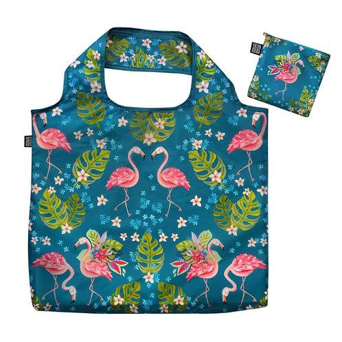 Funky Flamingo Folding Bag