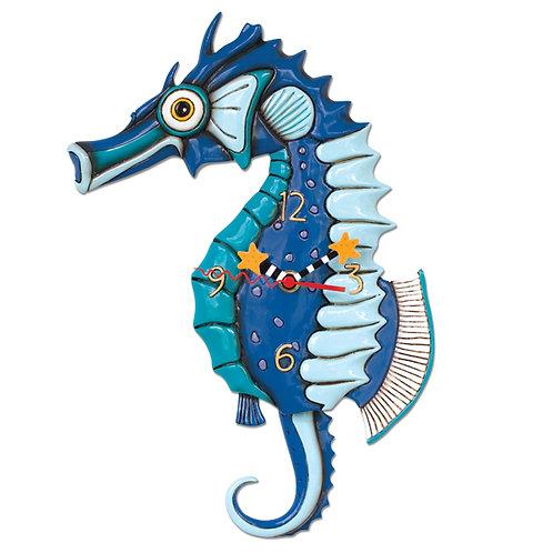 Salty Seahorse Clock