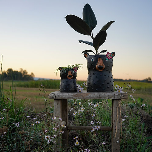 Black Bear Planter