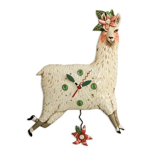Llama Love Pendulum Clock
