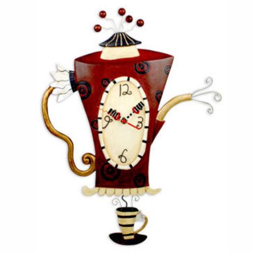Steamin' Tea Coffeepot Clock