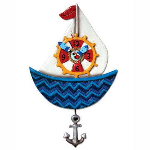 Ahoy Sail Boat Clock