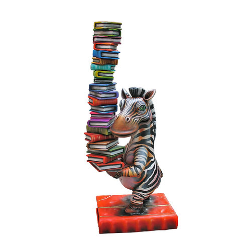 Zebra with Books