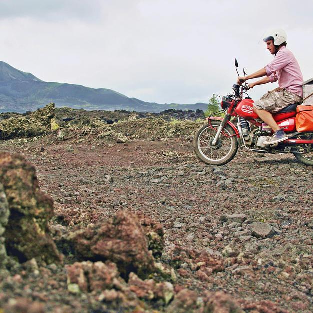 Riding the Bali volcano