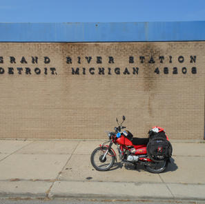 Passing through Detroit, USA