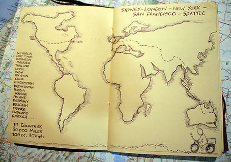 Map of my Sydney to London and New York
