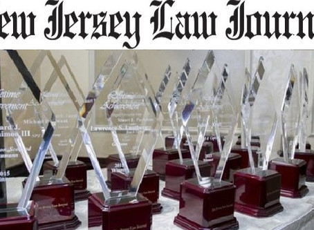 "Three-Times-Awarded:  Lucosky Brookman Law Firm Partners All Receive New Jersey Law Journal ""New Lea"