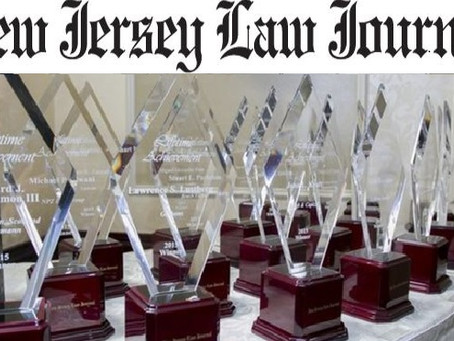 """Three-Times-Awarded:  Lucosky Brookman Law Firm Partners All Receive New Jersey Law Journal """"New Lea"""