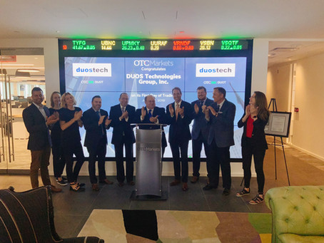 Duos Technologies Group, Inc. (OTCQX: DUOT) Begins Trading on OTCQX Exchange