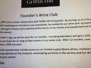 Launch of The Griffin Hill Wine Club