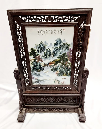 Porcelain Hand Painted Chinese Screen