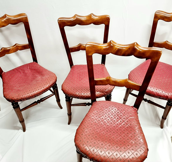 Victorian Set of Four Mahogany Chairs