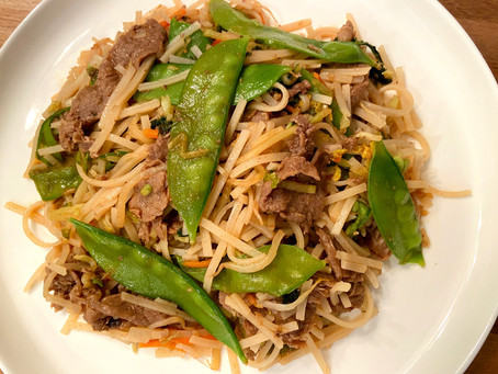 Asian Noodle Beef Stir Fry