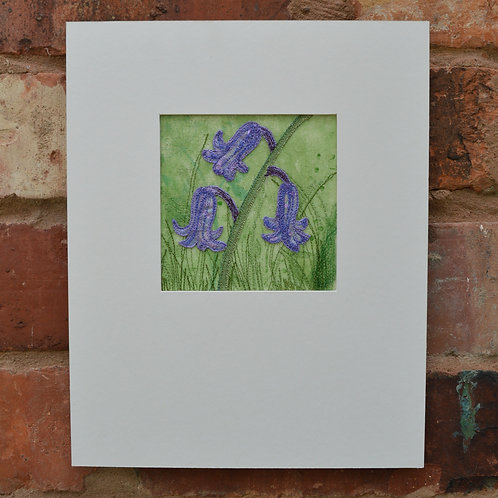 Embroidered Bluebell Picture Workshop £65- £20 Deposit