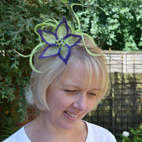 Claire's Stitched Sinamay Fascinator Project