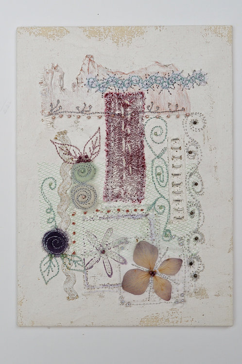 Shabby Chic Stitched Collage