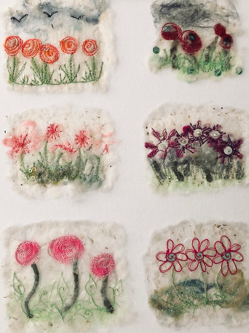 Embroidered Silk Paper Workshop