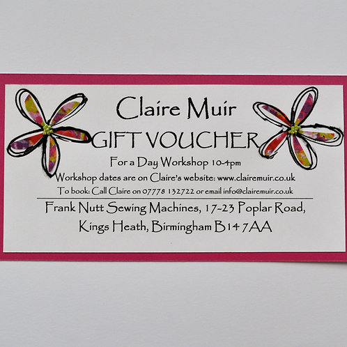 Gift Voucher for a Whole Day Workshop
