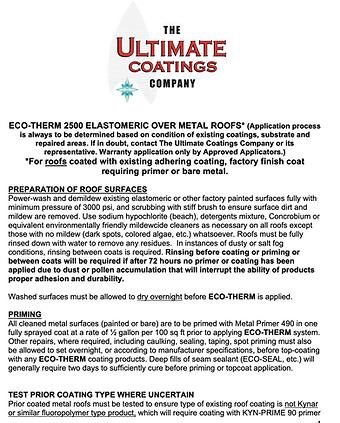 ECO-THERM 2500 ELASTOMERIC APPLICATION G