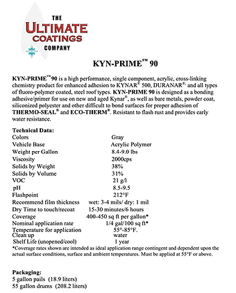 KYN-PRIME 90 TDS and APPLICATION GUIDE c